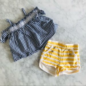 Janie & Jack outfit cute top and shorts 6-12 month